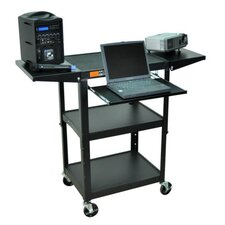 Adjustable Height AV Cart