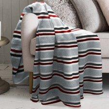 Lauren Taylor Stripe Printed Microfleece Blanket