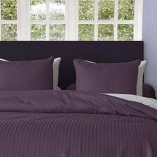 Bettwäsche-Set Uni Stripe aus 100% Baumwollesatin