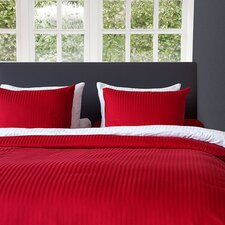 Bettwäsche Set Uni Stripe aus 100% Baumwolle-Satin