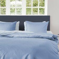 Bettwäsche-Set Uni Stripe BW aus 100% Baumwollesatin