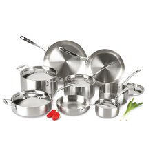 Axia Stainless Steel Tri Ply 13 Piece Cookware Set