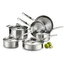 Martellata 10 Piece Stainless Steel Cookware Set