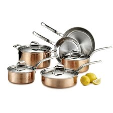 Martellata 10 Piece Copper Cookware Set