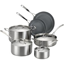 Axia 10 Piece Stainless Steel Cookware Set