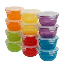 24-Piece Food Storage Container Set (Set of 12)