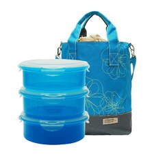 4-Piece Lunch Box and Cooler Bag Set