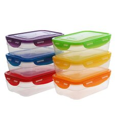 6-Piece Nestable Food Storage Container Set (Set of 6)