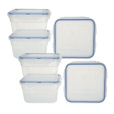 Square Storage with Lid (Set of 6)