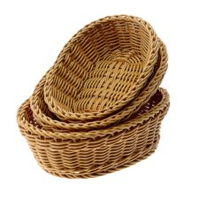 3 Piece Nestable Oval Basket Set