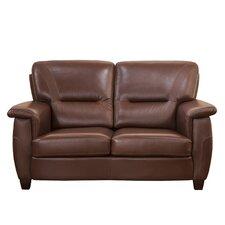 Sienna Top Grain Leather Loveseat