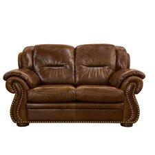 Wyatt Top Grain Leather Loveseat