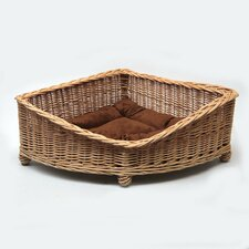 Dog Corner Basket in Brown