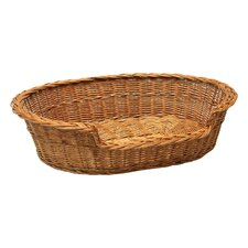 Dog Bed Basket in Brown