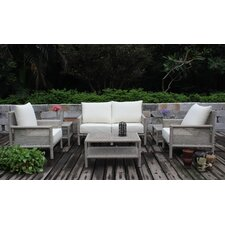 Drift Wood 4 Piece Deep Seating Group with Cushions