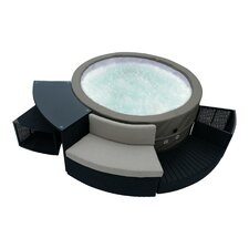 Swift Current 5-Person 88-Jet Portable Plug and Play Foam Spa