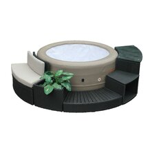 Rio Grande 4-Person 88-Jet Inflatable Portable Plug and Play Spa
