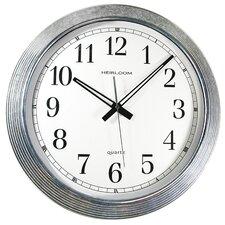 "Zinc Steps 16"" Wall Clock"