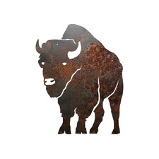 Rustic Metal Buffalo Silhouette Sign Wall Décor