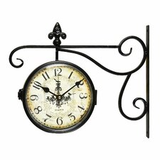 Vintage-Inspired Round Chandelier Double-Sided Wall Hanging Clock