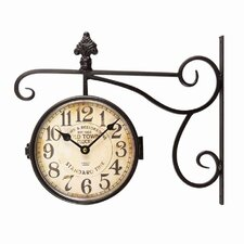 Vintage-Inspired Round Double Sided Wall Hanging Clock