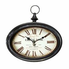"Vintage-Inspired Pocket ""Cheval Noir"" Wall Hanging Clock"