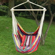 Tree Hanging Suspended Indoor/Outdoor Hammock Chair with 2 Pillows