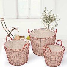 3 Piece Oval Urban Style Laundry Basket Set