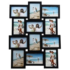 12 Opening Wood Photo Collage Wall Hanging Picture Frame