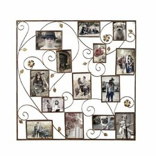 14 Opening Decorative Bronze-Color Iron Photo Collage Wall Hanging Picture Frame