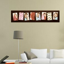 8 Opening Wooden Photo Collage Wall Hanging Picture Frame