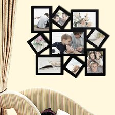 9 Photo Collage Wood Wall Hanging Picture Frame
