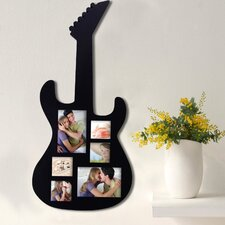 6 Photo Guitar Collage Picture Fame