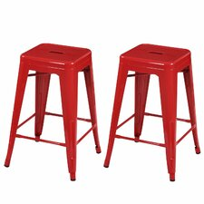 "Tolix 24"" Bar Stool (Set of 2)"