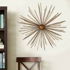 Decorative Contemporary Modern Starburst Iron Widget Wall Decor