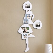 6 Opening Decorative Cheerleader Wall Hanging Collage Picture Frame