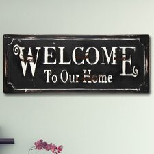 """Welcome to Our Home"" Wall Décor"