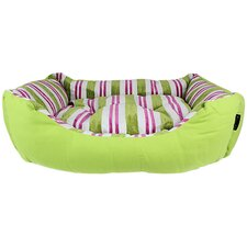 Canvas Striped Dog Bed