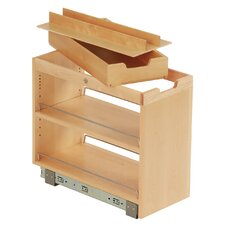 FindIT Kitchen Storage Organization Base Cabinet Pullout with Slide and Roll Manager