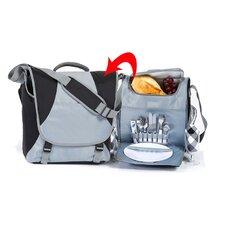 2 in 1 Picnic Messenger Bag Set for Two