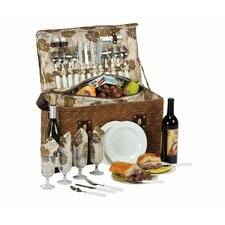 Woodstock 4 Person Picnic Basket with Insulated Cooler