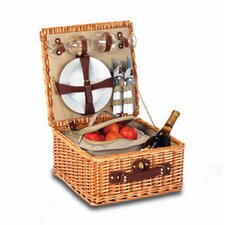 Baxter 2 Person Picnic Basket with Insulated Cooler