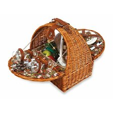 Athertyn 2 Person Picnic Basket with Insulated Cooler Section