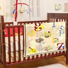 A to Z Nursery 4 Piece Crib Bedding Set