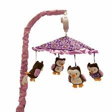Plum Owl Meadow Musical Mobile
