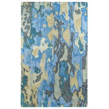 Brushstrokes Blue Area Rug
