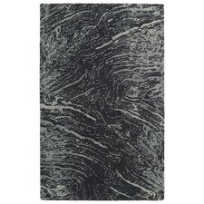 Brushstrokes Charcoal Area Rug