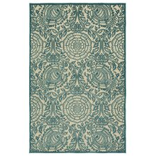 A Breath of Fresh Air Blue Indoor/Outdoor Area Rug