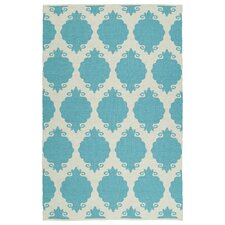 Brisa Turquoise/Cream Indoor/Outdoor Area Rug