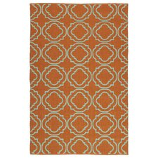 Brisa Orange/Teal Indoor/Outdoor Area Rug